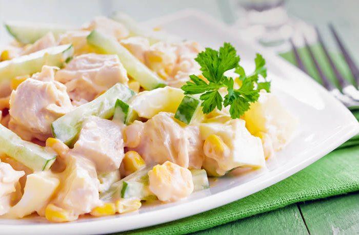 Ρώσικη σαλάτα με κοτόπουλο